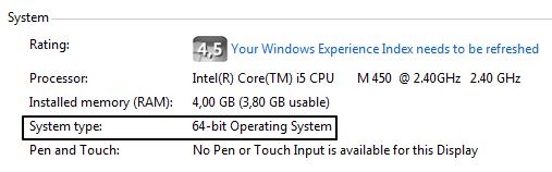 Tipe Sistem 32 atau 64 Bit
