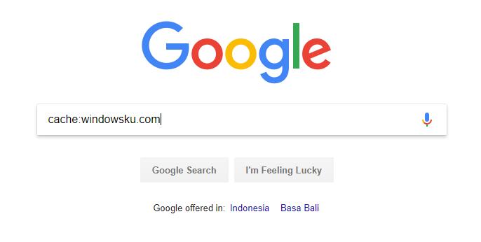 Mengakses Situs Cache Google Lewat Search Bar