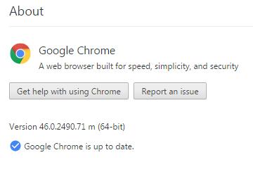 Mengakses about di Google Chrome