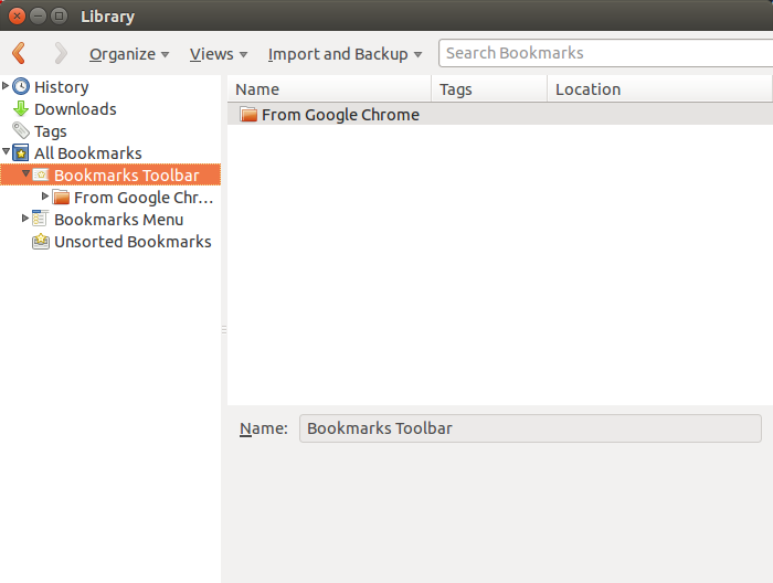 Data bookmark dari Chrome