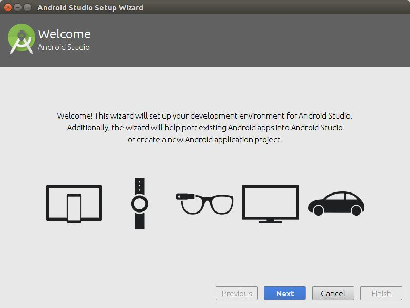Instalasi Android Studio Welcome