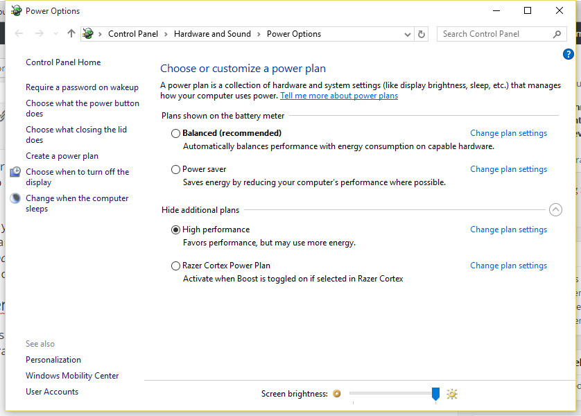 Cara memilih power plan menjadi High Performance di Windows 10