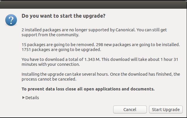 Memulai Proses Upgrade Ubuntu
