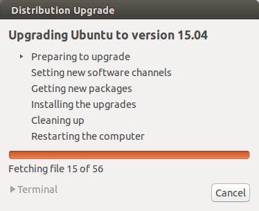 Proses Upgrade Ubuntu 14.04 Ke 15.04