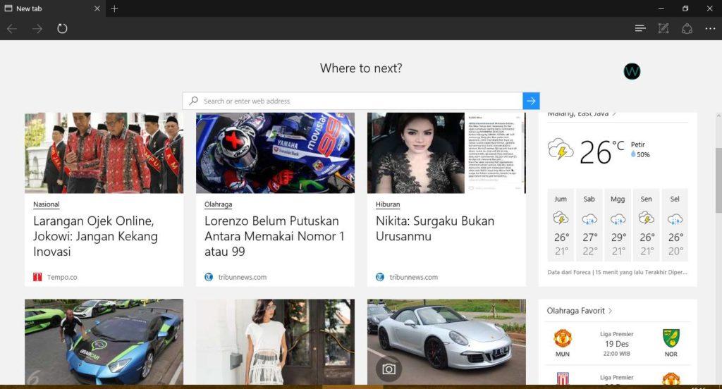 Berita Berbahasa Indonesia Di Microsoft Edge