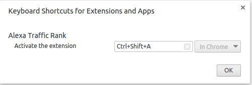 Menambah Keyboard Shortcut Untuk Extension
