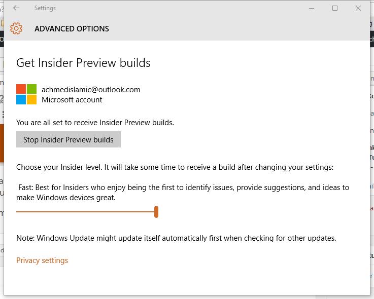 Mendapatkan Preview Builds