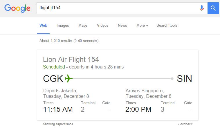 Cara mengecek status penerbangan