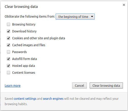 Cara menghapus data browsing di Google Chrome