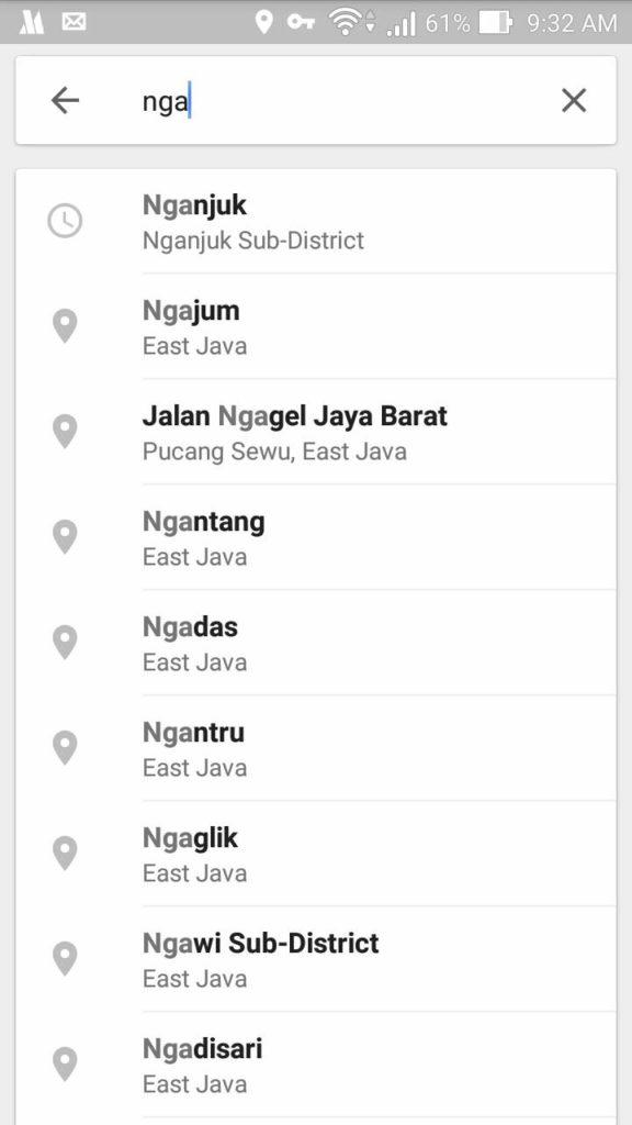 Cara Mencari Tempat Tujuan Di Google Maps