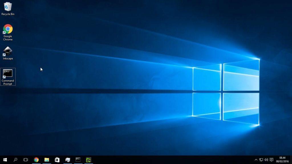 Command Prompt Di Desktop Windows 10