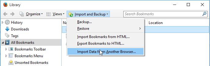 Library Di Firefox