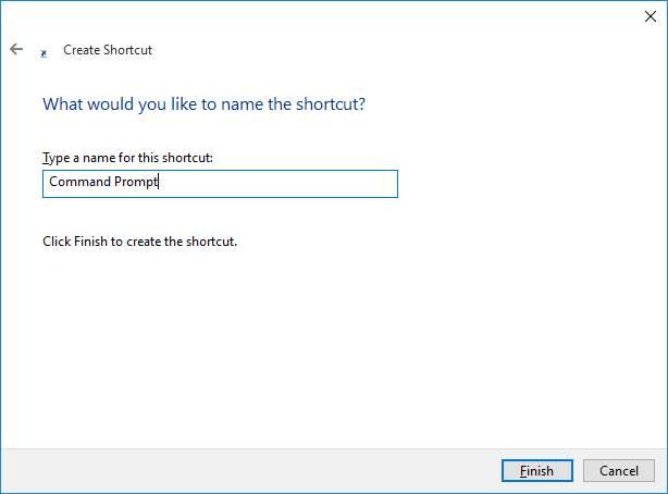 Memberikan Nama Shortcut Untuk Command Prompt