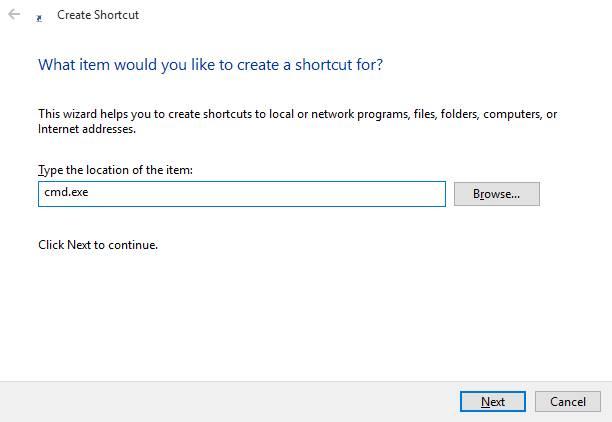 Mengetik Nama Aplikasi Untuk Shortcut