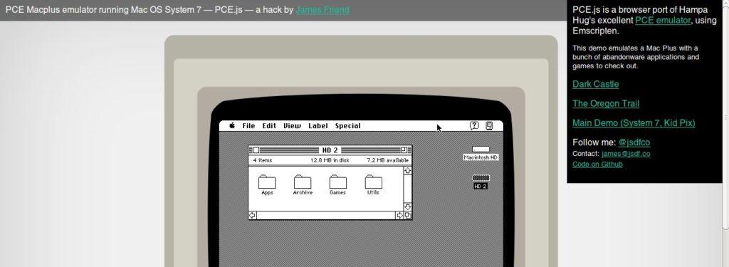 Menjalankan Mac Os System 7 Di Browser