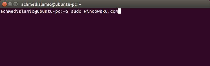 Membuka Terminal Di Ubuntu
