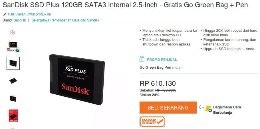 Sandisk SSD 120gb