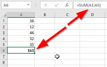 Hasil Pertambahan Di Excel