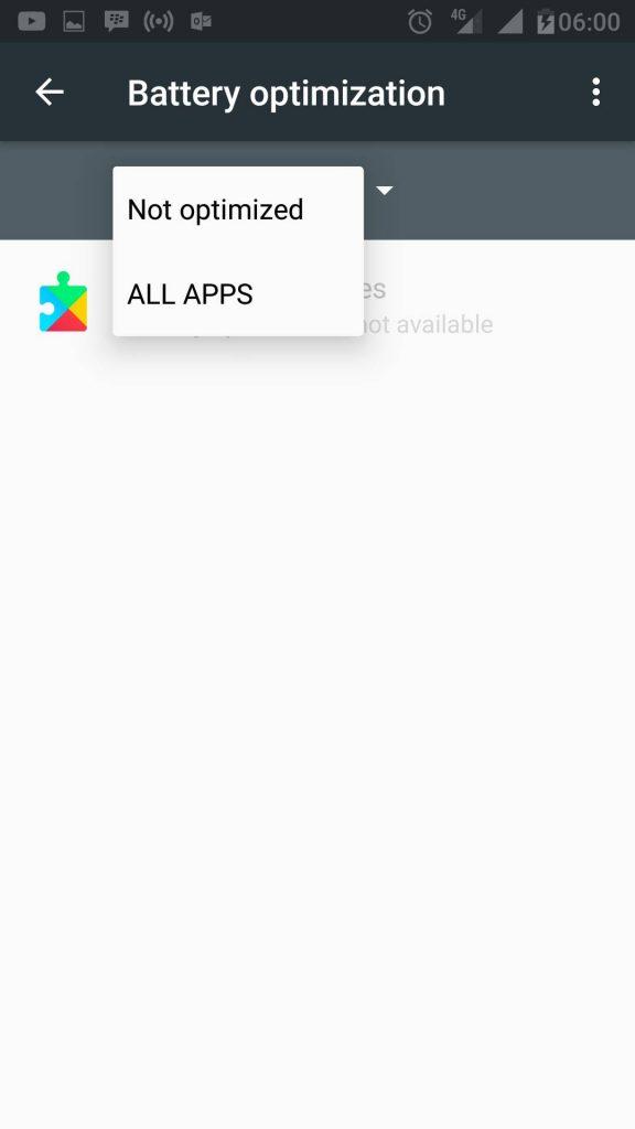 Semua Aplikasi Doze
