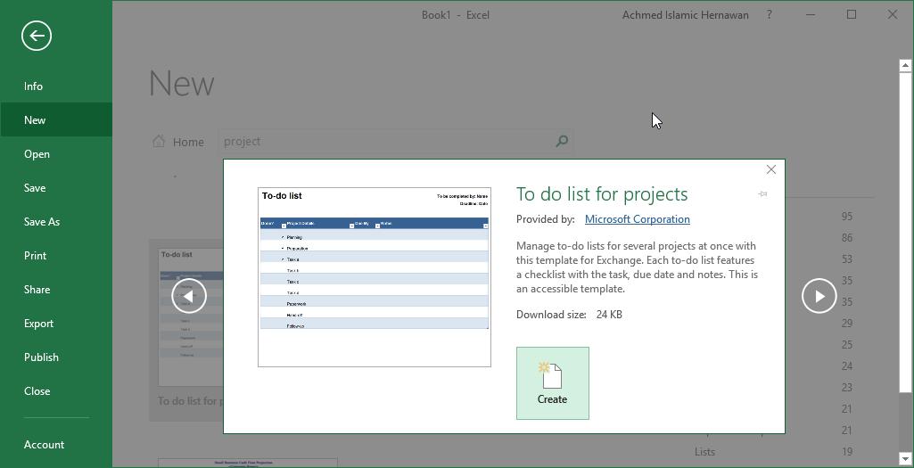Mengunduh Template Di Excel