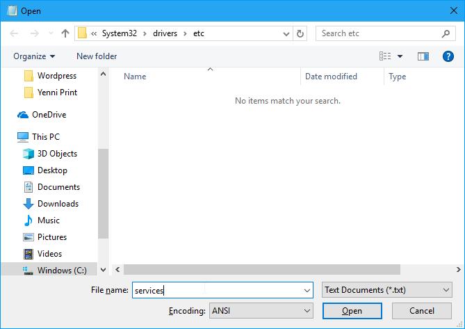 Cara Membuka File Services Windows