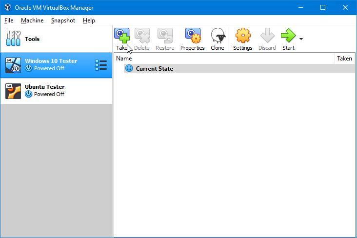 Snapshot Virtualbox