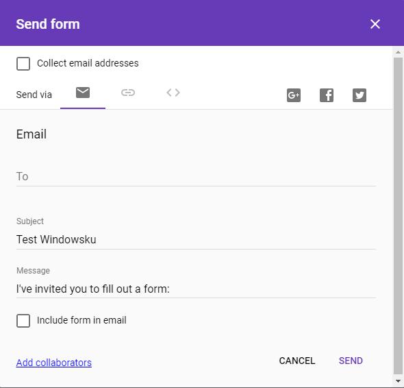 Google Form Mengirim