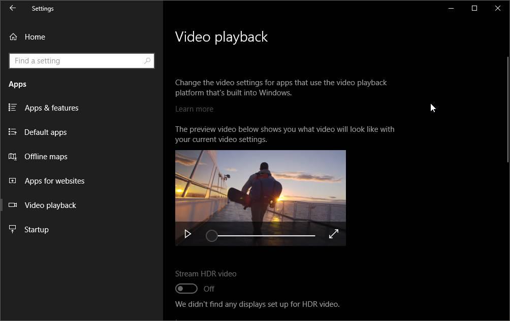 Hdr Video Di Windows 10 April 2018 Update