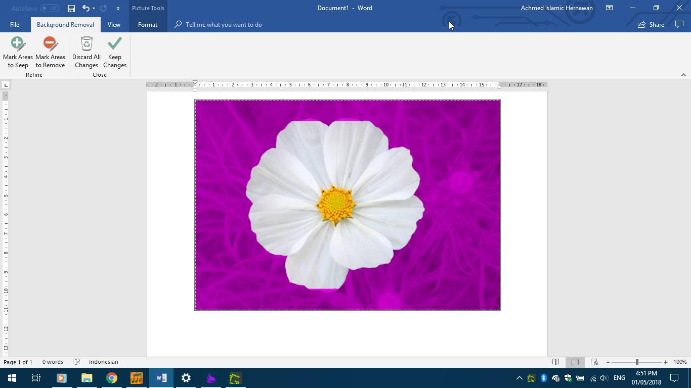 Menghilangkan Background Microsoft Word