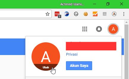 My Account Google Ubah Foto