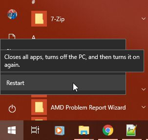 Restart Windows