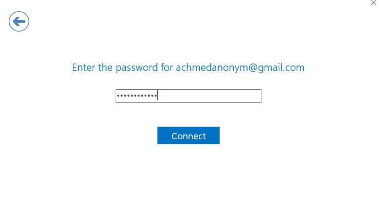 Masukkan Password Outlook