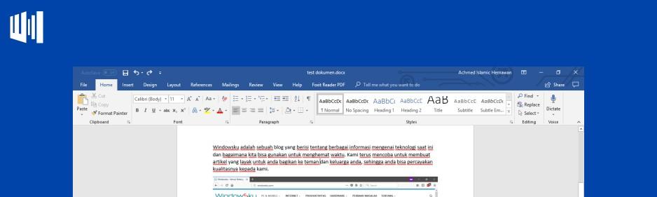 Langkah Belajar Microsoft Word Header