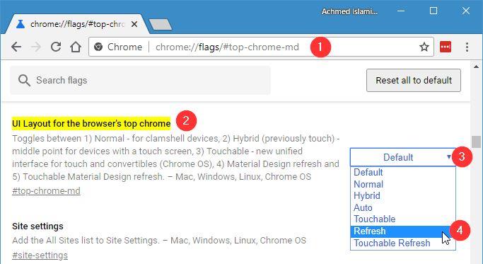 Mengganti Tampilan Chrome Ke Material Design Refresh