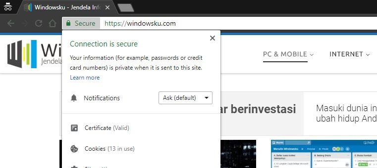 Koneksi Aman Situs Windowsku
