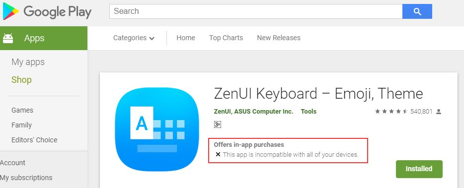 Aplikasi Zenui Keyboard Tidak Bisa Di Merk Lain