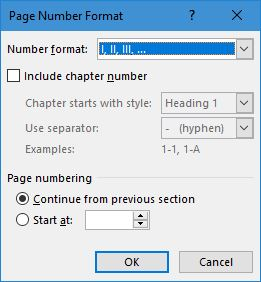 Nomor Romawi Word