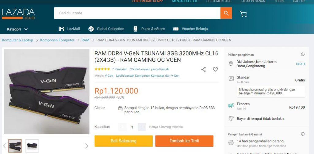Ram Kit 2x4gb Ddr4