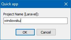 Memberi Nama Proyek Laravel