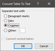 Opsi Convert To Text Microsoft Word