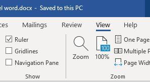 Memunculkan Ruler Microsoft Word
