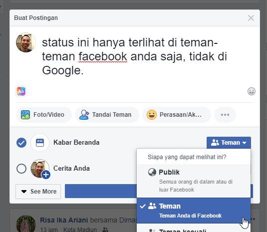 Status Facebook Mengubah Label Yang Melihat