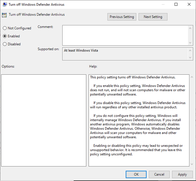 Mematikan Windows Defender Melalui Local Group Policy