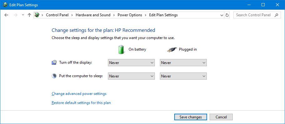 Pengaturan Power Plan Windows 10