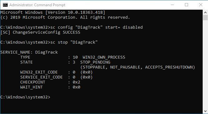 Mematikan Diagnostic Tracking Windows