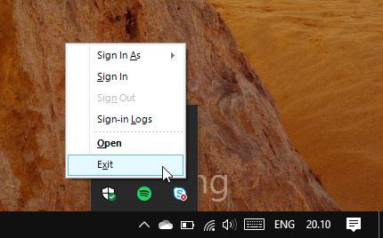 Skype Taskbar Exit
