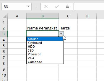 Dropdown Di Excel