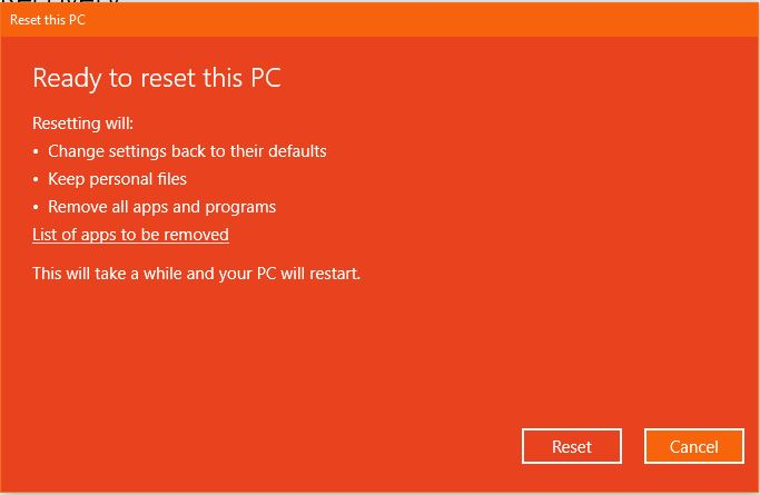 Keep My Files Reset This Pc Windows 10