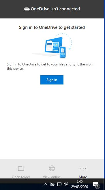 Sign In Onedrive Windows