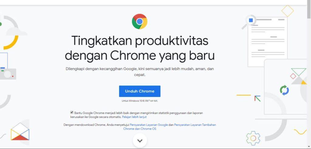 Halaman Utama Situs Google Chrome